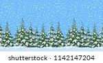 christmas holiday seamless... | Shutterstock .eps vector #1142147204