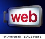 web design concept  web on... | Shutterstock . vector #1142154851