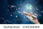 5g network wireless systems and ... | Shutterstock . vector #1142166464