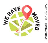 we have moved  changed address... | Shutterstock .eps vector #1142170397