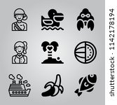 simple icon set of tropical... | Shutterstock .eps vector #1142178194