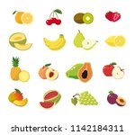 fruit set in blank background | Shutterstock .eps vector #1142184311