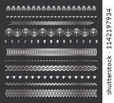 set of seamless  borders. a... | Shutterstock .eps vector #1142197934