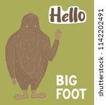 Stock vector bigfoot lifeday illustration vector 1142202491