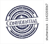 blue confidential distressed... | Shutterstock .eps vector #1142203067