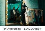 back view of man wearing...   Shutterstock . vector #1142204894
