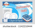 dishwasher detergent tabs.... | Shutterstock .eps vector #1142210444