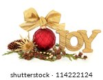 Christmas Joy Glitter Sign With ...
