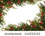 christmas traditional border of ... | Shutterstock . vector #114222151