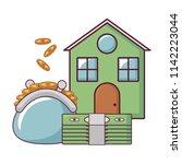 house and money design | Shutterstock .eps vector #1142223044