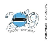 happy new 2019 year with flag... | Shutterstock .eps vector #1142230247