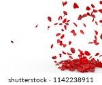 rose petals fall to the floor....   Shutterstock . vector #1142238911