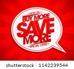 buy more save more vector...   Shutterstock .eps vector #1142239544