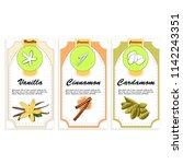 spice packaging. vanilla ...   Shutterstock .eps vector #1142243351
