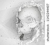 3d vector human skull of all... | Shutterstock .eps vector #1142244407