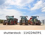 agricultural machinery. three... | Shutterstock . vector #1142246591
