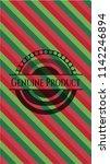 genuine product christmas... | Shutterstock .eps vector #1142246894
