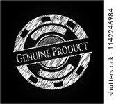 genuine product chalk emblem | Shutterstock .eps vector #1142246984