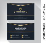 business model name card luxury ... | Shutterstock .eps vector #1142249567