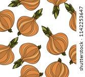 onion seamless pattern.vector...   Shutterstock .eps vector #1142253647