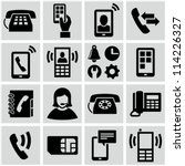 phone icons set | Shutterstock .eps vector #114226327