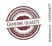 red genuine quality rubber... | Shutterstock .eps vector #1142266877