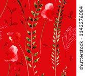 floral seamless pattern ... | Shutterstock . vector #1142276084
