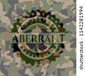 aberrant on camouflaged pattern   Shutterstock .eps vector #1142281994