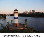 Sunset Skyline Of Minneapolis...