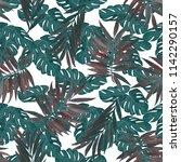 watercolor seamless pattern... | Shutterstock . vector #1142290157