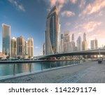 modern buildings of dubai...   Shutterstock . vector #1142291174