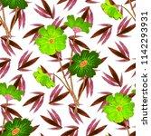 watercolor seamless pattern... | Shutterstock . vector #1142293931