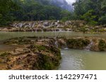 semuc champey  lanquin ... | Shutterstock . vector #1142297471