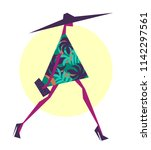 fashion illustration drawing in ... | Shutterstock .eps vector #1142297561