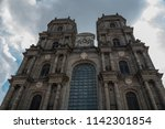 the cathedral  dedicated to... | Shutterstock . vector #1142301854