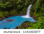 waterfall and natural pool with ... | Shutterstock . vector #1142302877