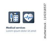 heart disease treatment ... | Shutterstock .eps vector #1142318537