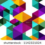 multicolored triangles abstract ... | Shutterstock .eps vector #1142321024