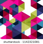 multicolored triangles abstract ... | Shutterstock .eps vector #1142321081