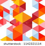 multicolored triangles abstract ... | Shutterstock .eps vector #1142321114
