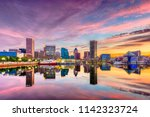 baltimore  maryland  usa... | Shutterstock . vector #1142323724