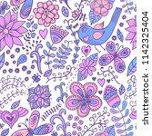 vector floral seamless pattern. ... | Shutterstock .eps vector #1142325404