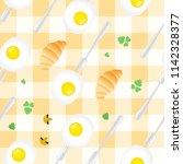 breakfast seamless pattern in... | Shutterstock .eps vector #1142328377