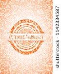 extended warranty orange mosaic ... | Shutterstock .eps vector #1142334587