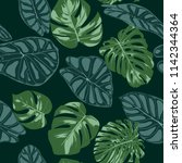 vector tropic seamless pattern. ... | Shutterstock .eps vector #1142344364