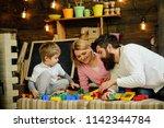 preschool concept. preschool... | Shutterstock . vector #1142344784