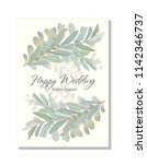 card with beautiful twigs with... | Shutterstock .eps vector #1142346737