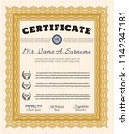 orange diploma template or... | Shutterstock .eps vector #1142347181