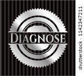 diagnose silver emblem or badge | Shutterstock .eps vector #1142347211