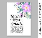 floral wedding invitation... | Shutterstock .eps vector #1142351477